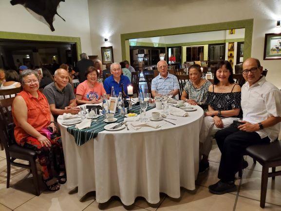 An evening dinner with fellow travelers