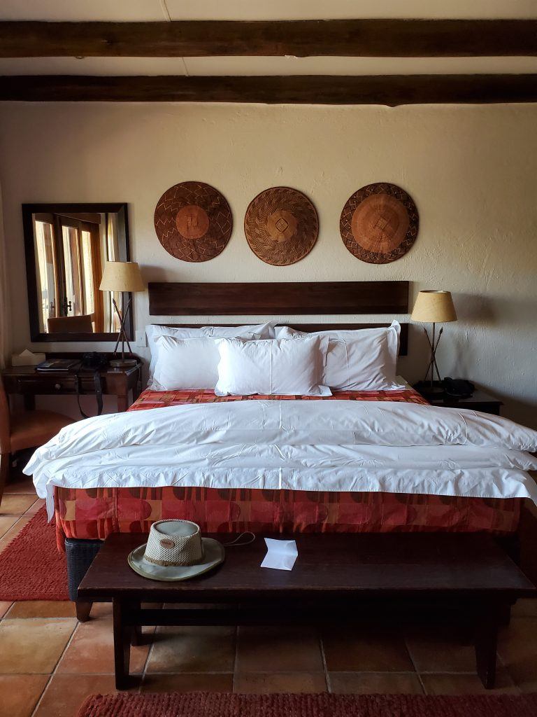 Our bedroom, so exquisitely decorated.