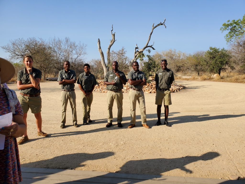 Our rangers, ready to show us our first ever Safari.