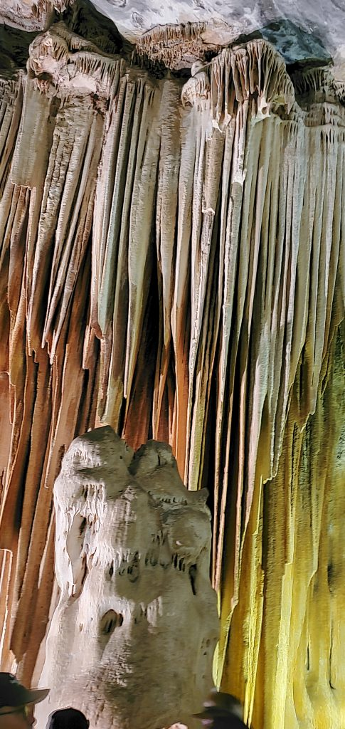The colors are the corrosion of the limestone