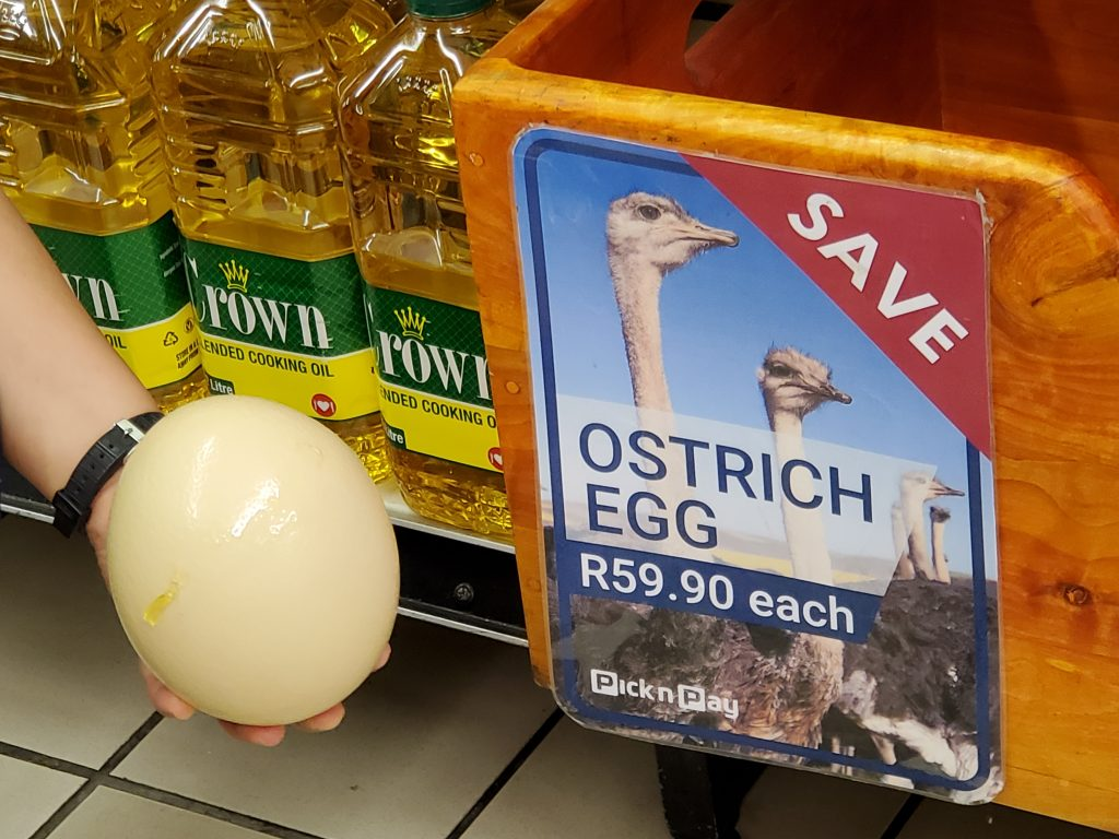 Ostrich Egg Sold in the Supermarket
