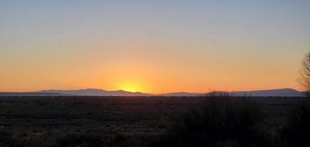 The beautiful sunrise behind the beautiful mountains