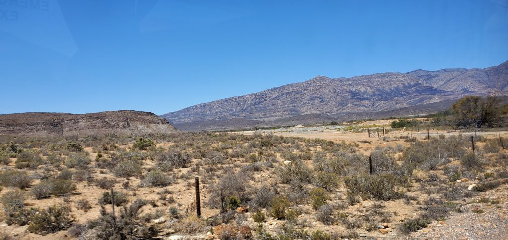 Barrydale's landscape can be dry in the summer