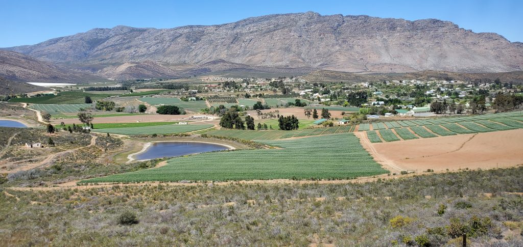 Barrydale's landscape with the rich fertile valleys is an enjoyable sight