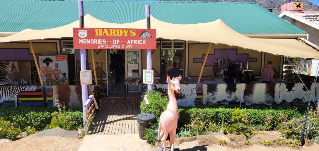 Hardy's souvenir shop, so much Africa trinkets and treasures in there