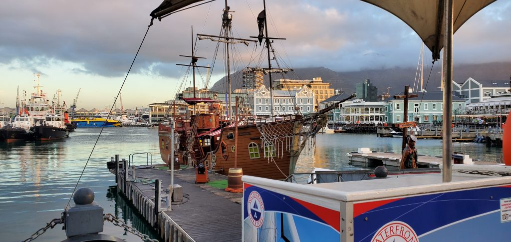 Pirate ships on display