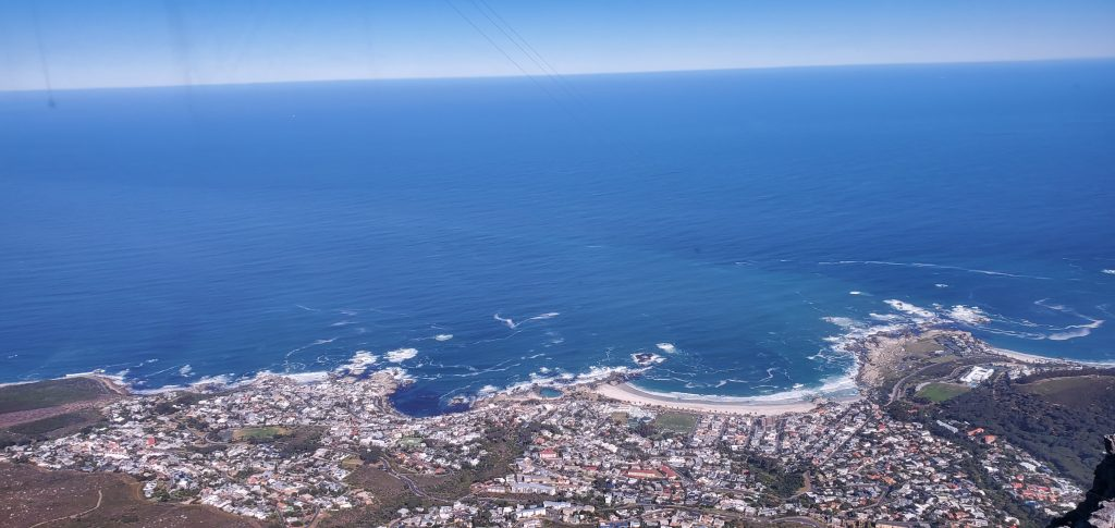 Cape Town from Table Mountain and the Atlantic Ocean