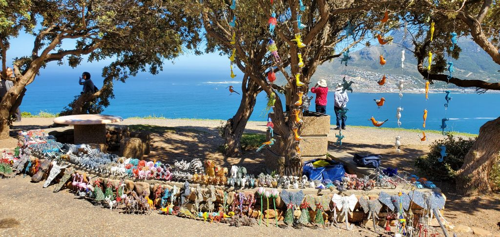 African souvenirs and trinkets sold along the way to Chapman's Peak