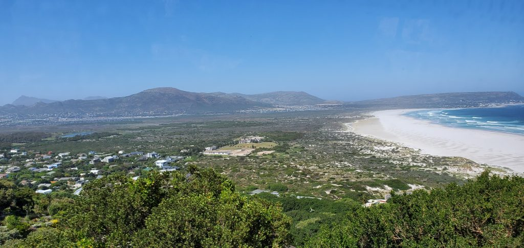 The town next to the Noordhoek Beach