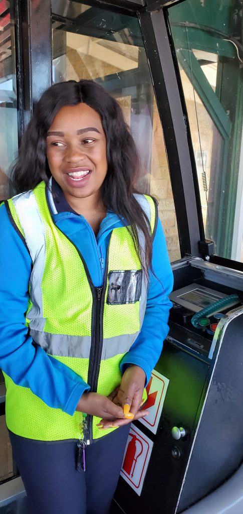 Our cheerful funicular train attendant