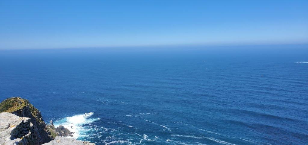 Blue Atlantic Ocean and Blue Skies