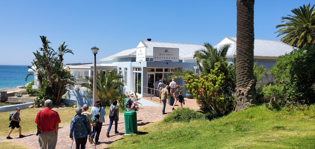 Lunch at the Seaforth Restaurant, Simon's Town