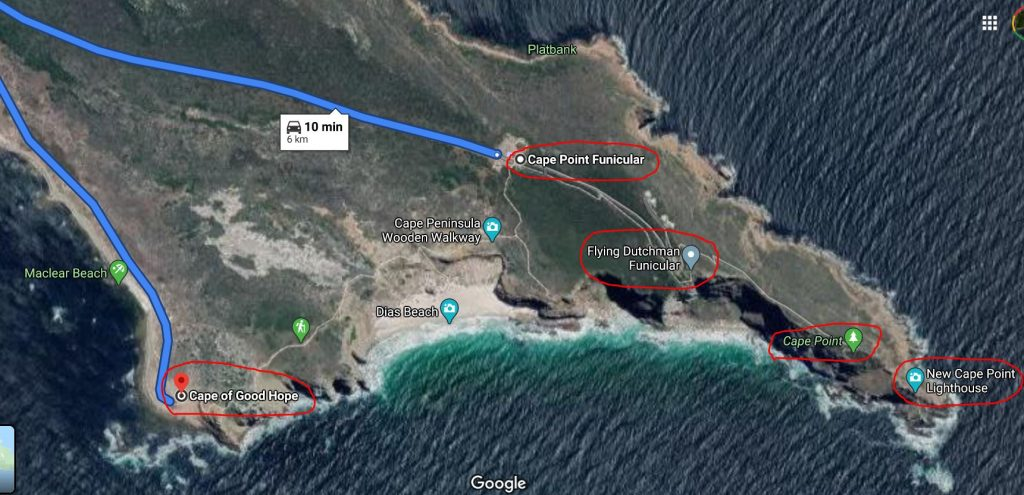 Map of Cape Point Funicular