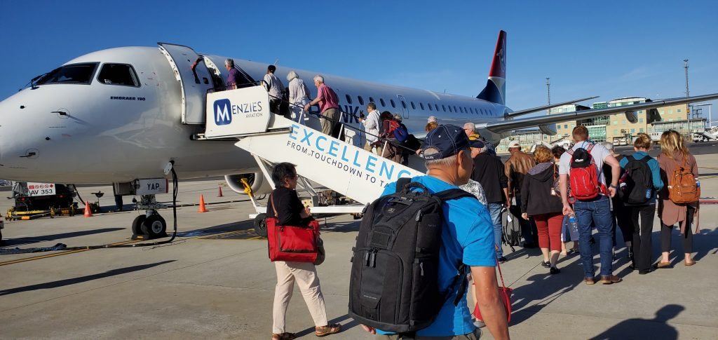 We boarded a small plane towards Zimbabwe