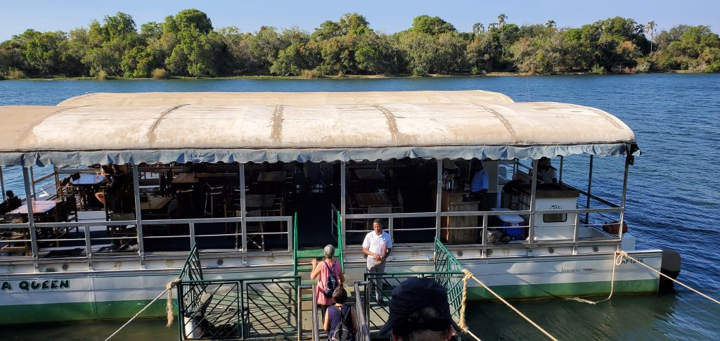 We boarded the 60-seater Wa-nuka Queen boat. They truly live up to their name, being queens of the river in the Lozi language.