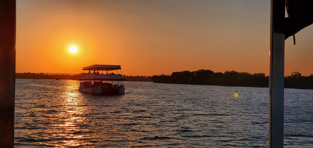 The beautiful sunset colors on a River Cruise shows the beauty of the country in a totally different light.