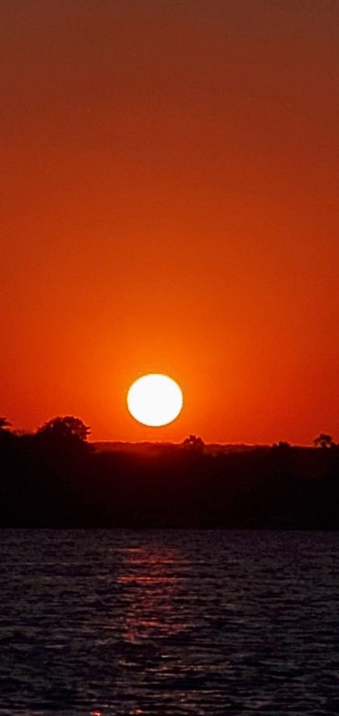The golden red colors of the sunset is so glorious.