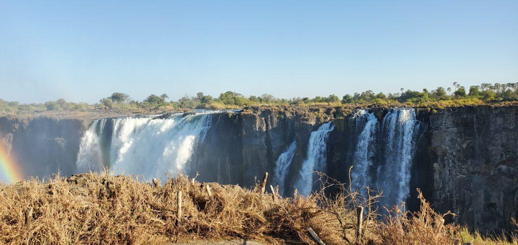 The beautiful Victoria Falls.