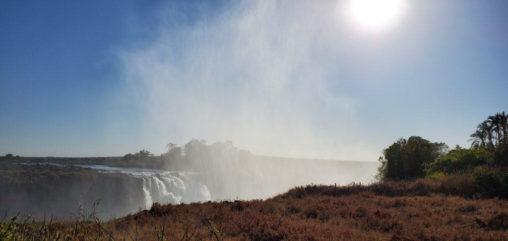 Sun, mist and waterfall.