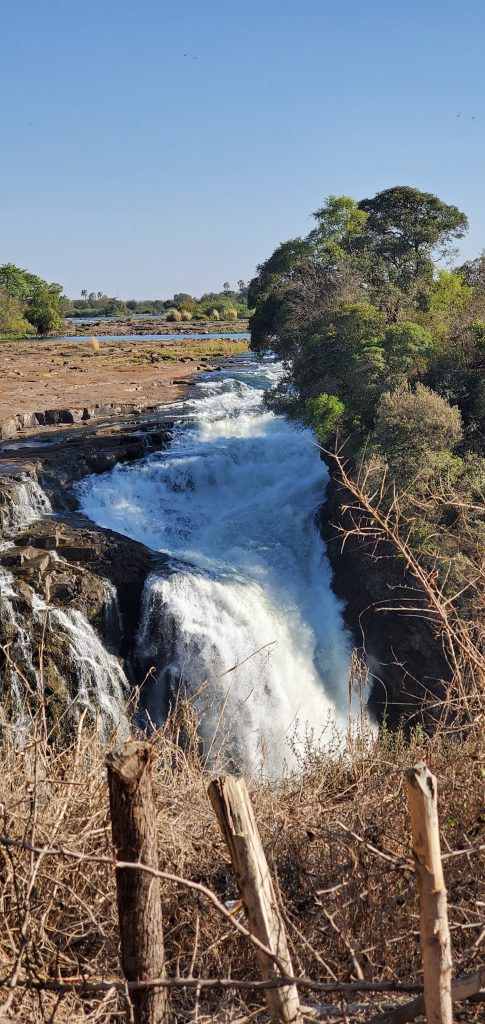 Water from the Zambezi river.