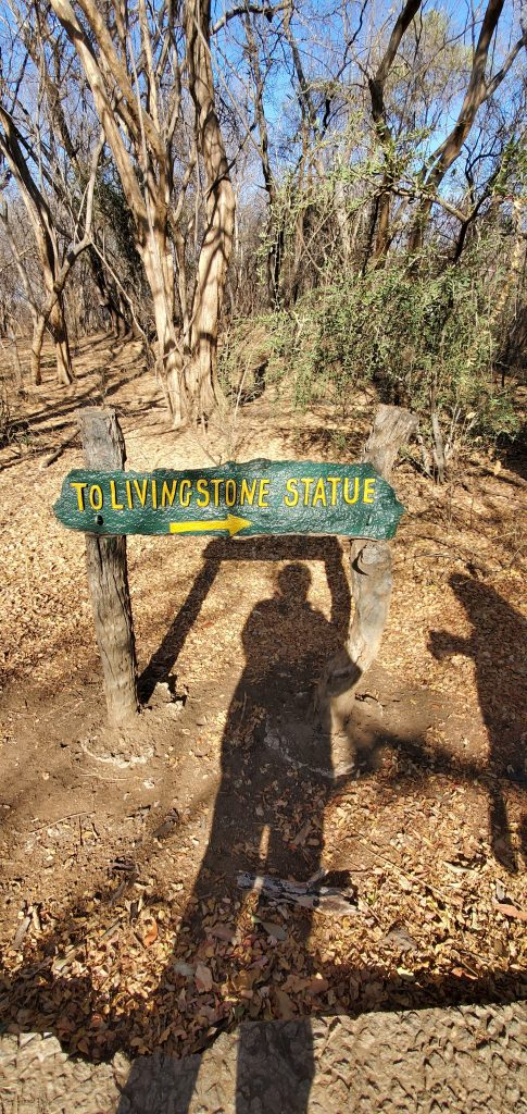 Sign that leads to Livingstone statue.